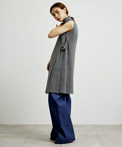 UNITED TOKYO WOMENS(ユナイテッドトウキョウウィメンズ)のベルトリブニットワンピース(ワンピース) 詳細画像