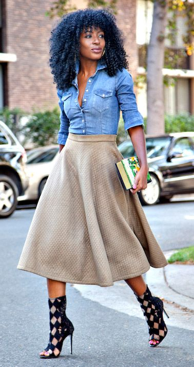 Quilt midi skirt stylepantry.com