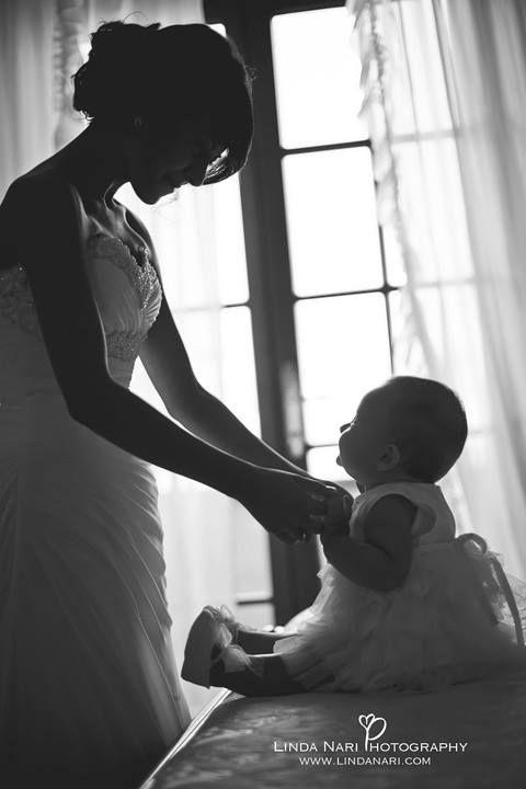 bride daughter baby wedding