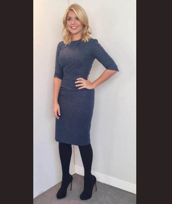 Holly Willoughby shows off her curves in figure hugging dress