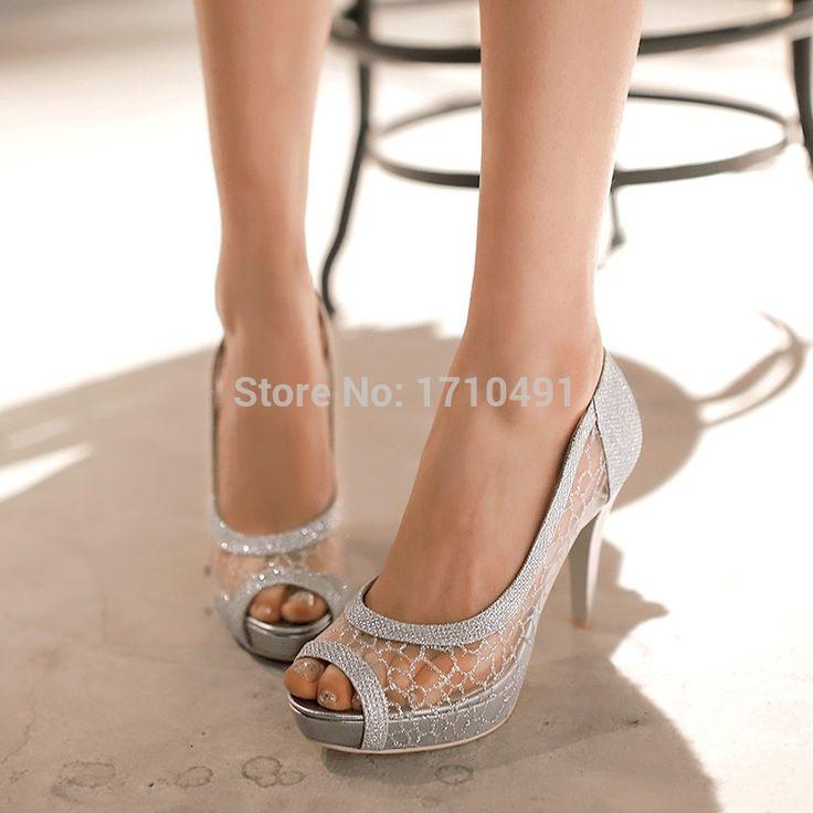 pas cher 2015 femmes sexy lady chaussures mince plate forme de talon sandale mariage - Chaussure Mariage Femme Gemo
