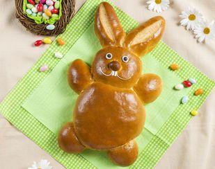 Lapin de Pâques en pâte à tresse - Base de recettes - LE MENU