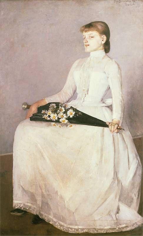 After the Walk, 1889 by Olga Boznańska (Polish, 1865-1940)