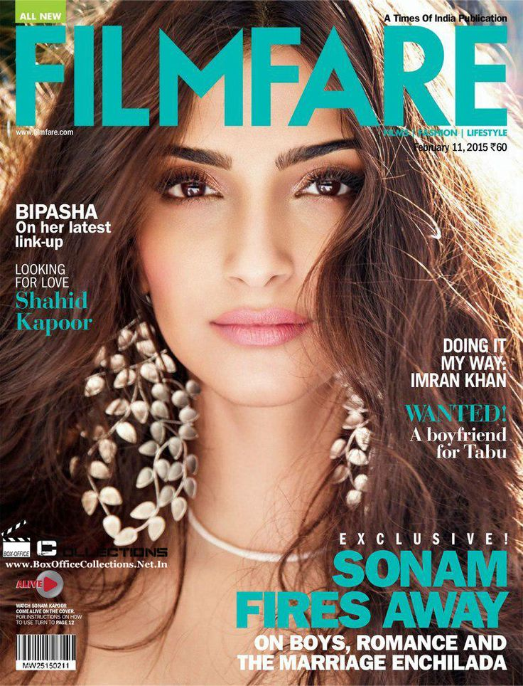 Gorgeous Sonam Kapoor Sizzles On The Filmfare Magazine Cover February 2015