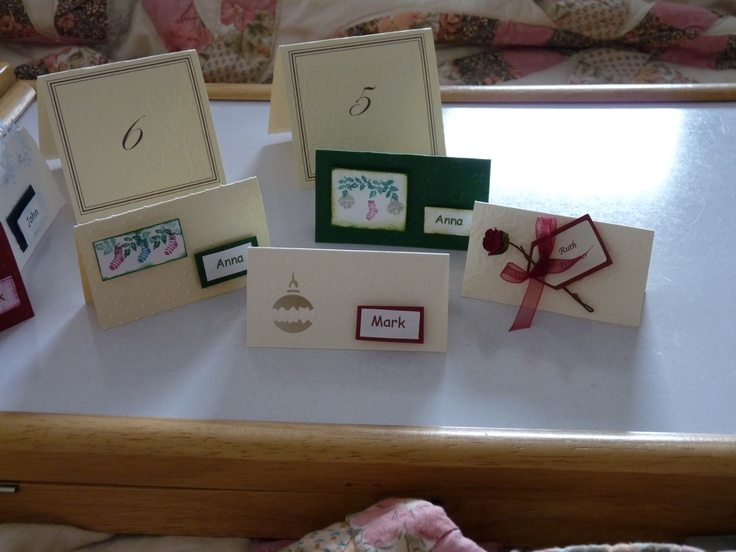 place cards for Christmas/winter time
