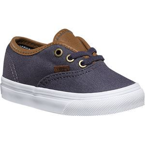 When you say you 'grew up wearing vans', you are forgetting to mention that you knew how to tie shoes when you started wearing them—knew how to walk even. However, this doesn't have to be true for your little ankle-biter. Vans made the Authentic Toddler Shoe to look exactly like your kicks with the waffle-tread sole, vulcanized construction, and poppy colors on the canvas upper.j Vans also constructed these with your sproutlet learning to walk in mind (it used a more pliable const...