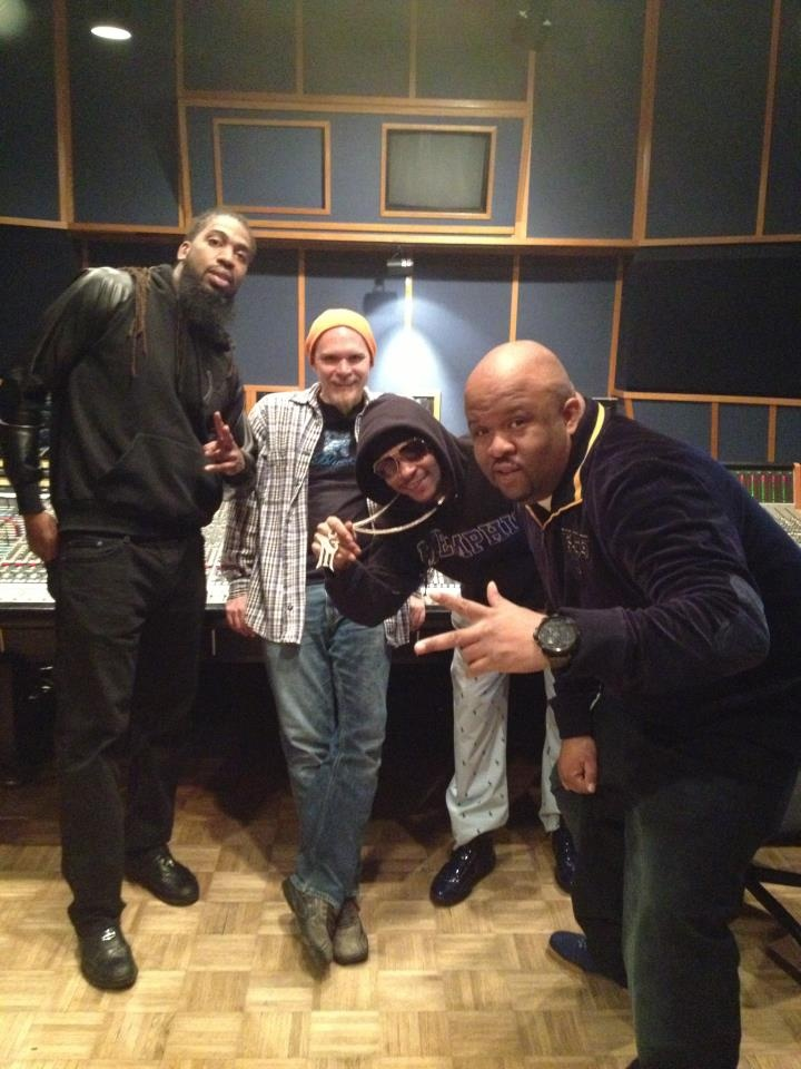 Playa Fly and Pastor Troy were in Ardent's Studio B yesterday working on their new record together, which is being produced by DJ Squeeky. Here they are with mix engineer Mike Wilson in Studio B!
