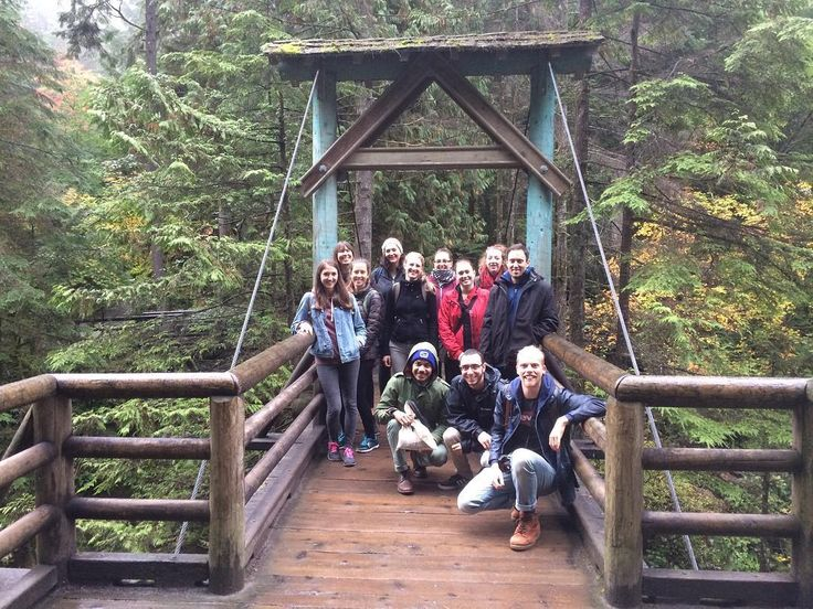 Awesome group from todays hike in Capilano, North Vancouver! #samesunvancouver #nature #adventure #capilano #northvan #vancouver #hikes #bridge #wanderlust