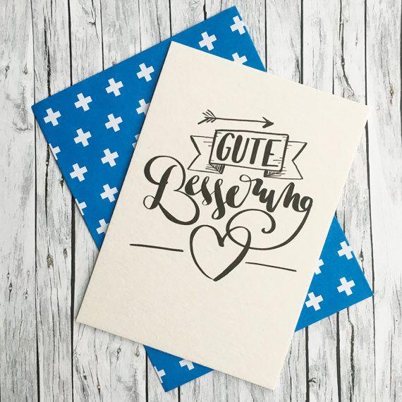 Gute Besserung Karte Diy.Gute Besserung Handlettering Grusskarte Kuvert Doodles