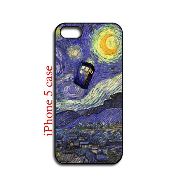 iphone 5 case  Tardis Starry Night Art Painting  by NewStyleDesign, $16.00
