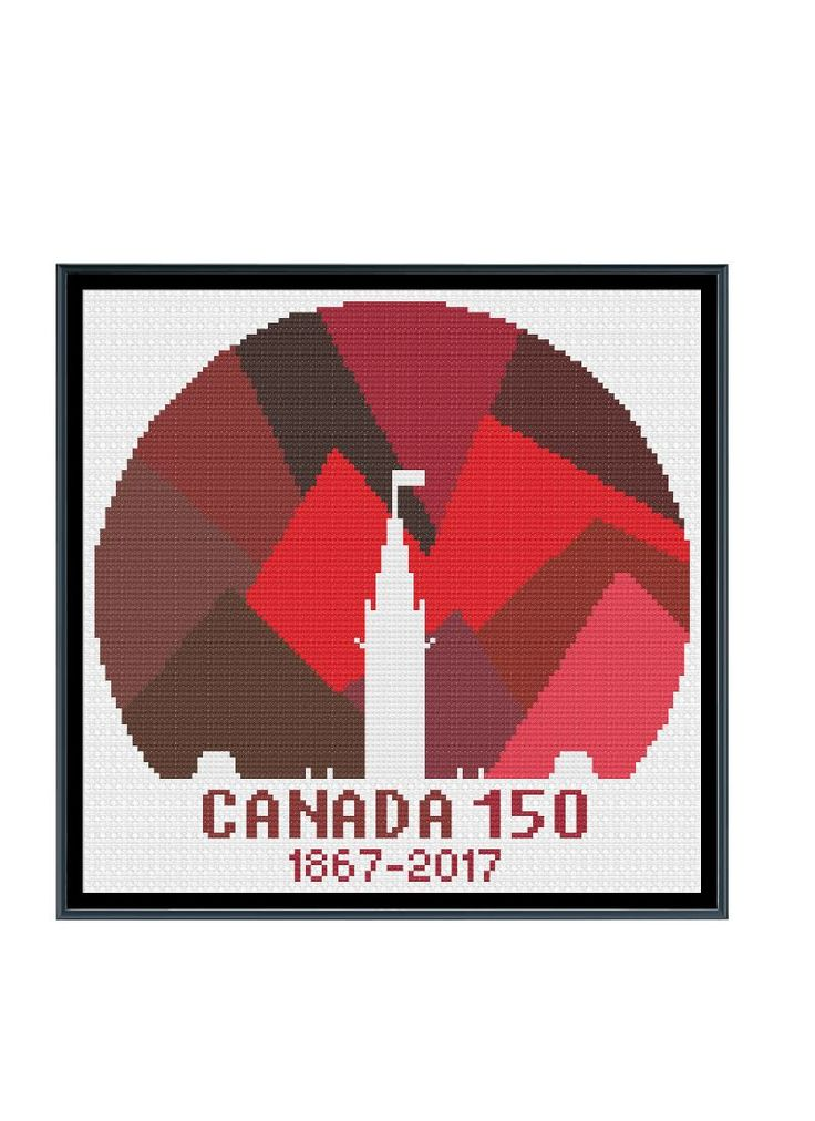 Canada 150 Logo Red Cross Stitch Pattern by StitcherzStudio on Etsy