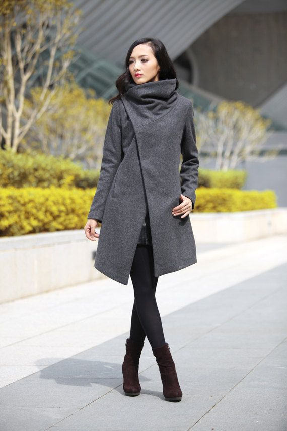17 best ideas about Wool Jackets on Pinterest | Asymmetrical coat ...