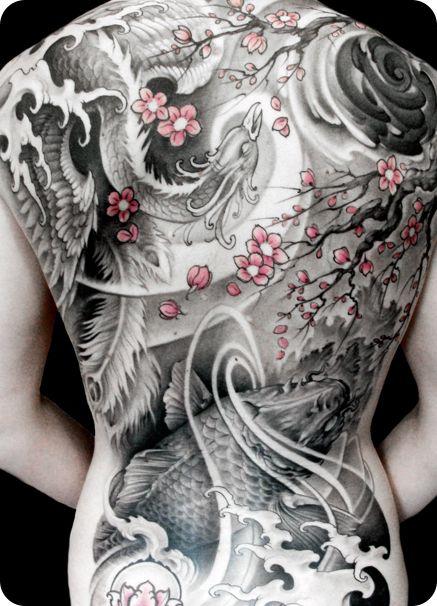 Asian Tattoo Back 7
