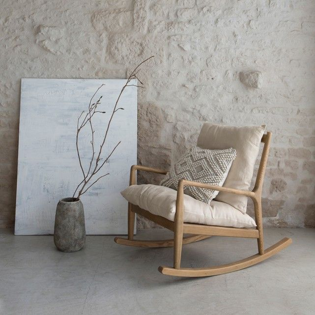 Rocking Chair Toile Lin Dilma Am Pm La Redoute Chf 500