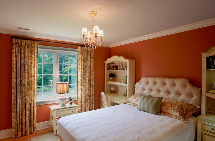 orange bedroom walls white trim paint it orange