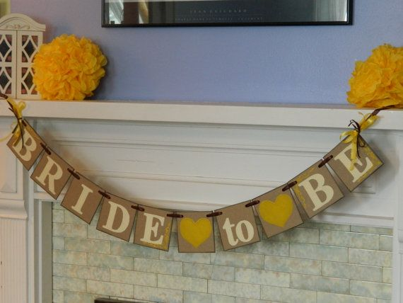 Bride to Be Banner Bridal Shower Decor by anyoccasionbanners, $21.00 sunflower bridal