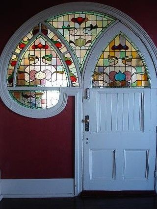 Awesome stained glass accent.