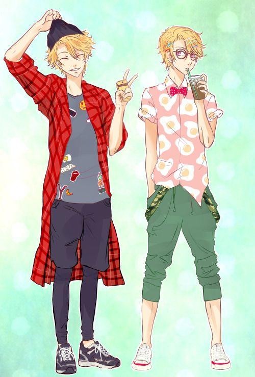 Imagen de anime fashion, anime guy, and yoosung