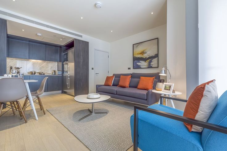 Living room, Charrington Tower Serviced Apartments, London