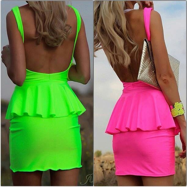 Bright colored dress