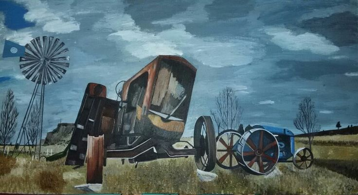 My painting - Old Tractors