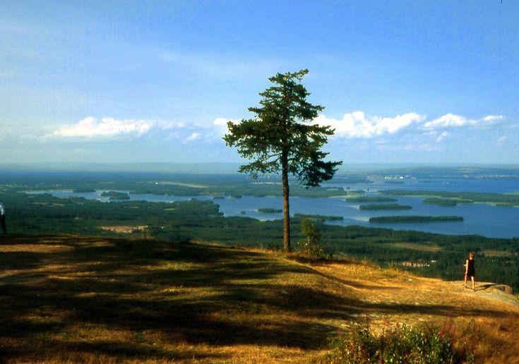 Gesundaberg, View to Lake Siljan, Dalarna, Sweden