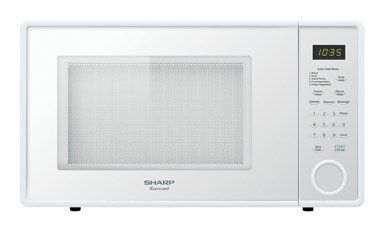 Sharp R-409YW R409 Series 1.3 Cubic Feet 1000-watt Microwave Oven, Family-Size, Smooth White 1.3 cu. ft. microwave oven with 1000 watts of cooking power and 12.88-inch Carousel turntable system. Wipe-clean electronic touch pad with LED digital timer/clock and child lock. 10 power levels, minute plus key and time/weight defrost plus 3 auto defrost options (meat, poultry, fish). 5 auto cook programs... #Sharp #MajorAppliances