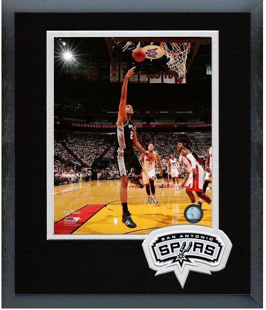 Tim Duncan Spurs Game 3 2014 NBA Finals - 11 x 14 Team Logo Matted/Framed Photo