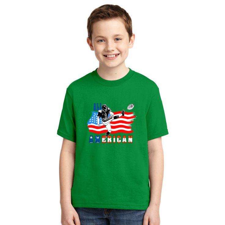 All American Football Field Goal Kicker Youth T-shirt