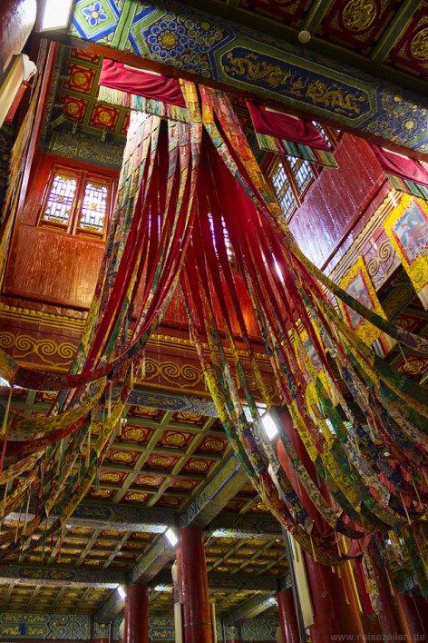 Innenraum des Klosters Amarbayasgalant in der #Mongolei.