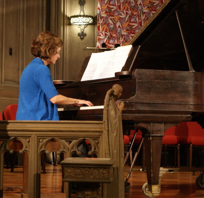 Rev. Cheryl Magrini finds joy in playing the piano, and is one way she lives a healthy life living with bipolar disorder.