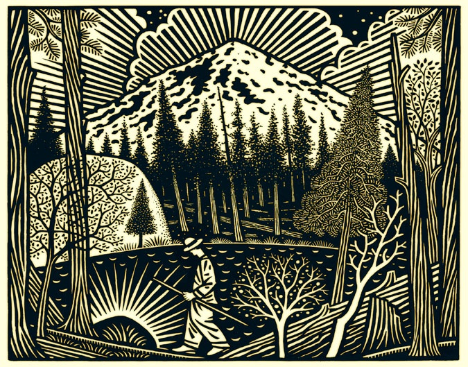 paul hoffman for globe pequot press woodcuts linocuts. Black Bedroom Furniture Sets. Home Design Ideas