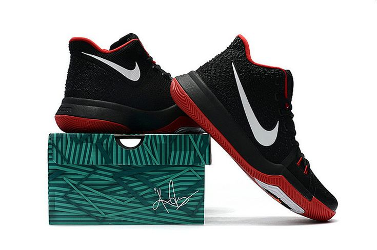Kyrie Irving Shoes 3 2017 Black Bred Sport Red