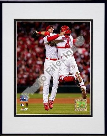 """Adam Wainwright and Yadier Molina """"Game 5 of the 2006 World Series (#24)"""" Double Matted… #SportingGoods #SportsJerseys #SportsEquipment"