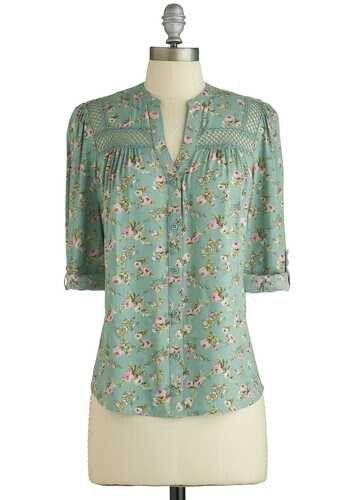 Floral pastel blouse