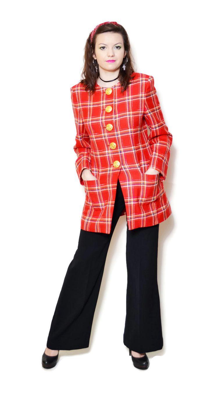plaid blazer outfit preppy  US$149.95
