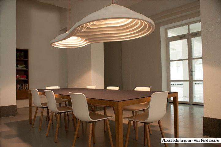 Akoestische lampen: sla twee vliegen in één klap - verbeter akoestiek en verlichting in kantoor, woning of restaurant. Akoestisch én esthetisch verantwoord!