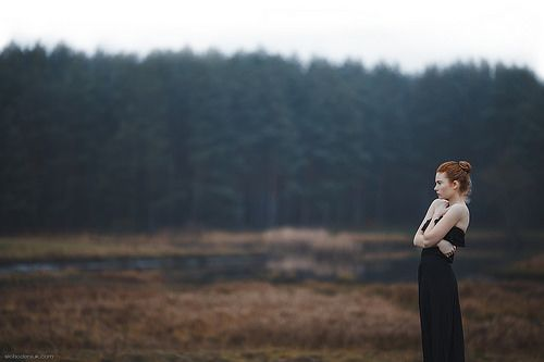 Girl in the wood   Photography   Woman   Outdoors   Woods   Black Dress