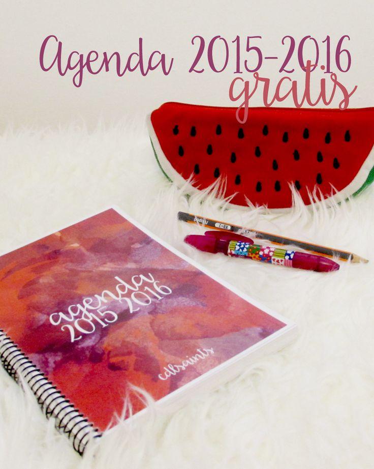 Agenda Imprimible 2015 2016 gratis | CDLSAINTS