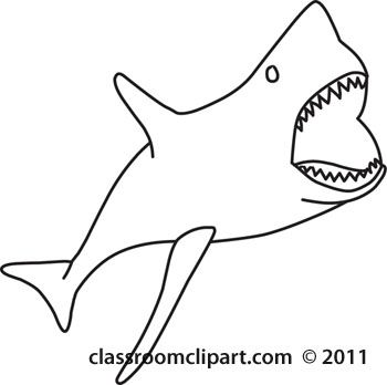 17 best images about black and white drawings on pinterest for Shark teeth template