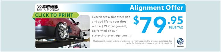 Wheel Alignment Special Offer