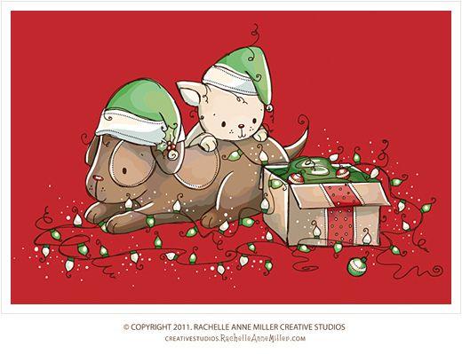 Christmas Pets by Rachelle Anne Miller, via Flickr
