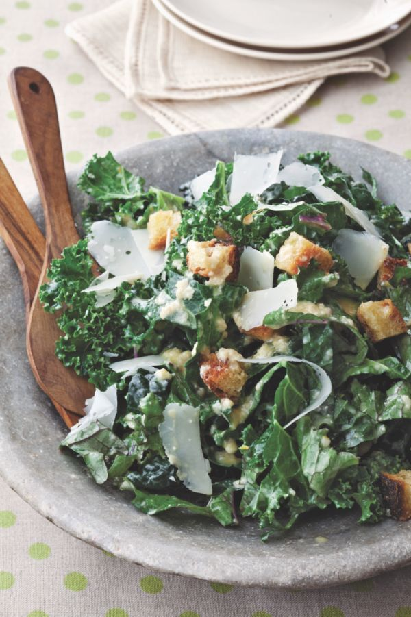 Kale Caesar Salad | KitchenDaily.com