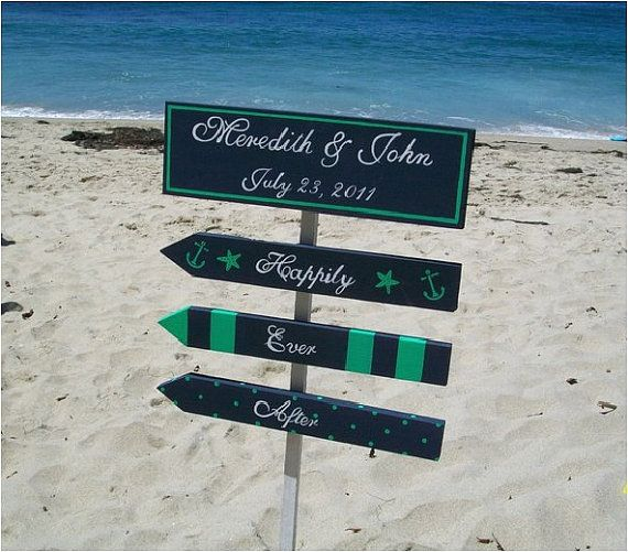 #beach wedding sign#blue #beach wedding... Wedding ideas for brides, grooms, parents & planners ... https://itunes.apple.com/us/app/the-gold-wedding-planner/id498112599?ls=1=8 … plus how to organise an entire wedding, without overspending ♥ The Gold Wedding Planner iPhone App ♥