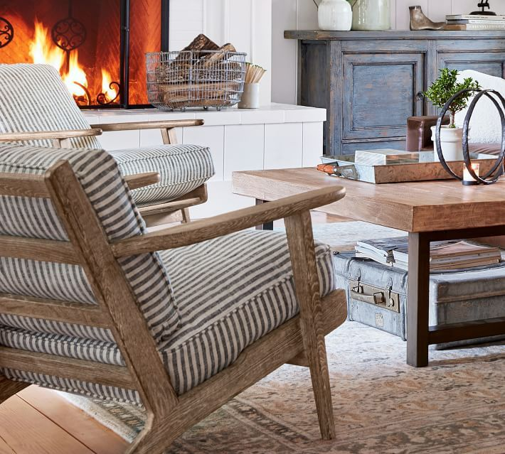 striped upholstery for armchairs