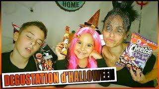 HALLOWEEN : Dégustation Candysan en Famille / Halloween = Citrouille - YouTube