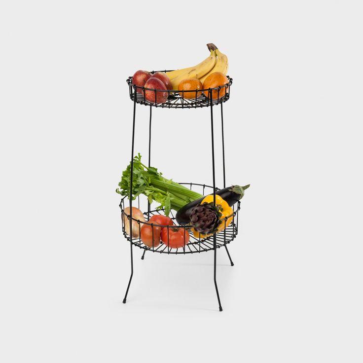 Mesa cesta de aramado de alumínio com pintura eletrostática