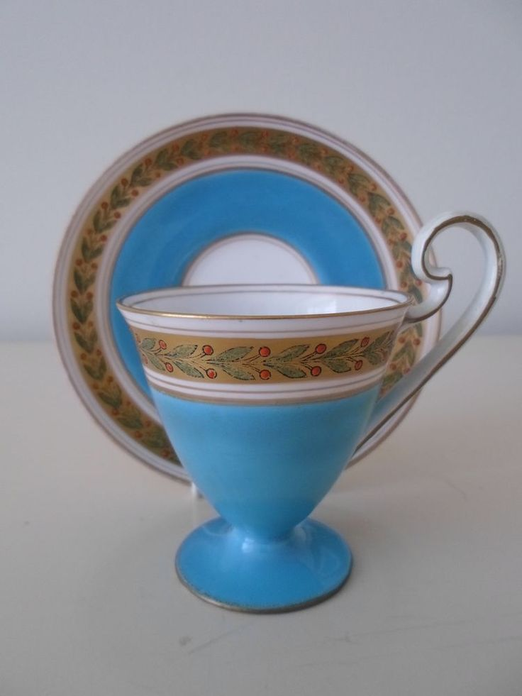 Antique Royal Worcester Pedestal Demitasse Cup u0026 Saucer.Jewelled.Turquoise.c1917 #CupsSaucers & 322 best royal worcester images on Pinterest | Worcester Dinnerware ...