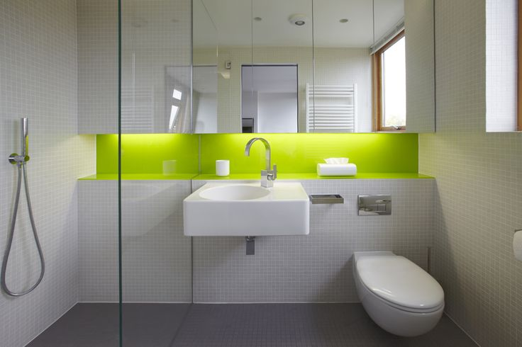 neon accent in the bathroom