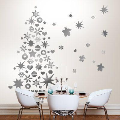 Sapin de Noël original : sticker mural